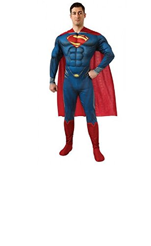 Maconaz Costume Man Of Steel Deluxe Adult Muscle Chest Superman Costume