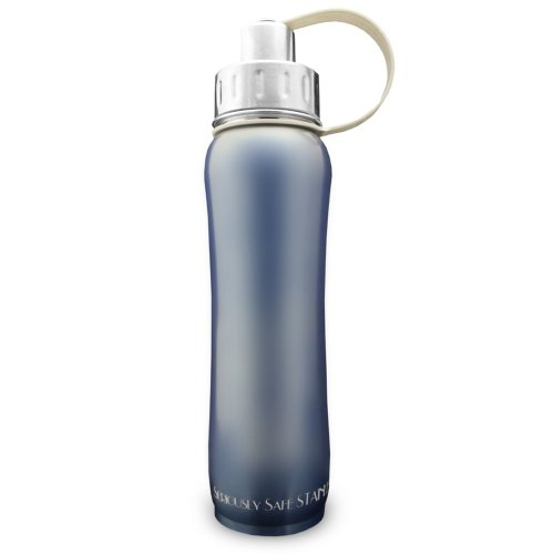 New Wave Enviro Double Wall Insulated Hot/Cold Stainless Steel Bottle (Sky, 600Ml)