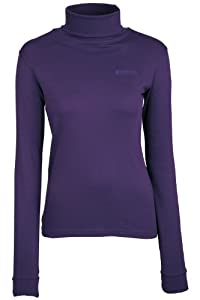 Mountain Warehouse Meribel Womens Cotton Long Sleeve Warm Breathable Roll Neck Top 100% Cotton Purple 8