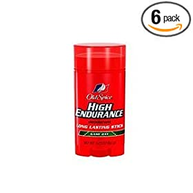 Old Spice Deodorant High Endurance, Game Day, 3.25-Ounce Sticks (Pack of 6)