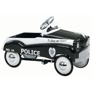 Instep Police Pedal Car With Rubber Tires And Chrome Hub Caps