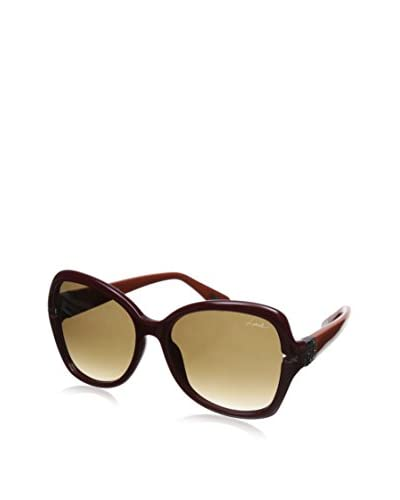 Lanvin Women's SLN594 Sunglasses, Burgundy/Orange