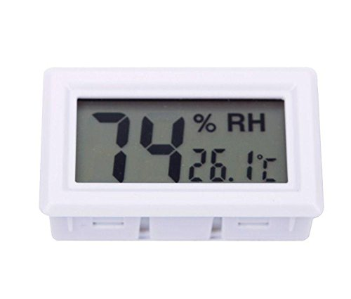 White Digital Lcd Thermometer Hygrometer Humidity Temperature Meter Indoor 02