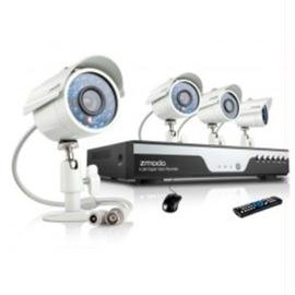 Zmodo Kdc4-Yaruz4Zn-1T 4-Channel 960H Dvr Security System With 1Tb And 4 X 700Tvl Ir Night Vision Outdoor Cameras (Beige)