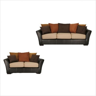 Picture of Guildcraft Allegra Two Tone Scatterback Sofa and Loveseat (560A) (Sofas & Loveseats)
