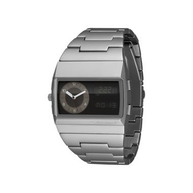 Vestal Men's MMC031 Metal Monte Carlo Matte Silver Ion-Plated Digital Watch