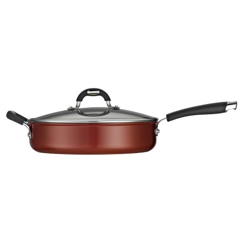 Tramontina 80110/045Ds Style Ceramica 01 Covered Deep Skillet, 11-Inch, Metallic Copper