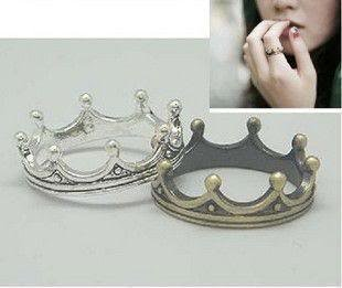 Je091 Classical Ring, King Crown Ring, Stainless Jewelry, Bronze Silver Color Ring(2-Rings Combo Set!!!!)