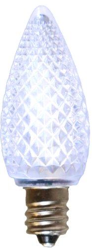 American Lighting 035-C7-Led3-Pw Retrofit C7 Premium Led Bulbs, Faceted, Super Bright, Pure White, 25-Pack