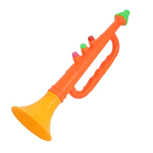 Como Sports Matches Noise Maker Plastic Blowing Horn Trumpet Toy Orange Red