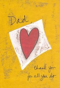 Dad (Father) Birthday Greeting Card Heart Thank