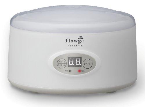 グリーンハウス 家庭で作れるヨーグルトメーカー flowge 500ml グレー GH-KYGB500-GY