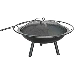 New Landmann The Halo Steel Fire Pit Full Diameter Handle Steel Bowl Ring And Poker High Quality