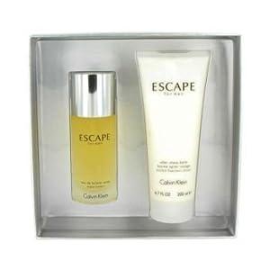 ESCAPE by Calvin Klein Gift Set -- 3.4 oz Eau De Toilette Spray + 6.7 oz After Shave Balm (Men)