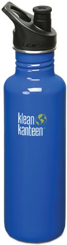 Klean Kanteen Stainless Steel Bottle with 3.0 Sport Cap (Ocean Blue, 27-Ounce)