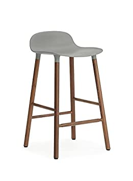 Normann Copenhagen Shape Bar Stool 75 cm Walnut Toilet Seat Grey