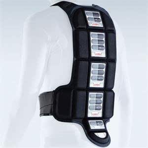 Knox Kompakt Light Weight Back Protector - Large/Black