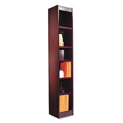 """12"""" Narrow Profile Bookcase Finish: Mahogany"""