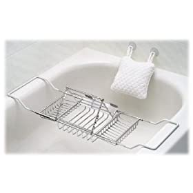 BATHTUB CADDY w/ Spa PILLOW bath tub tray book rack