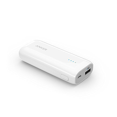 AnkerR Astro E1 5200mAh 超コンパクト モバイルバッテリー 急速充電可能 iPhone / iPad / iPod / Xperia / Galaxy / Nexus 他対応 トラベルポーチ付属【PowerIQ搭載】(ホワイト) A1211022