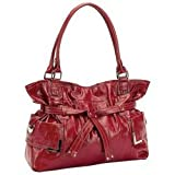 New Gigi Chantal Large Red Faux Leather Purse With Leopard Print Lining Zippered Main Compartment Reviewed