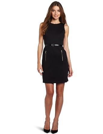 (新品)优雅皮带连衣裙Anne Klein Women's Zip Pocket Dress$38.20