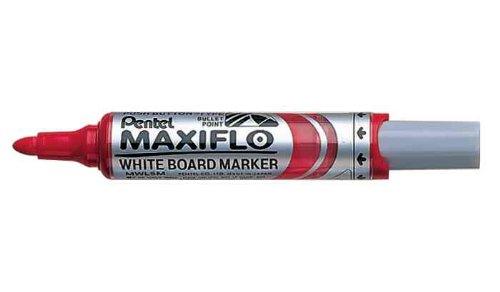 Pentel Lot de 3 Marqueurs tableau blanc MAXIFLO MWL5M Rouge