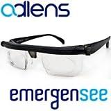 緊急用 防災 非常用メガネ [眼鏡] エマージェンシー 度数調整可能! 近眼から老眼まで対応OK 防災袋 持ち出し袋 にアドレンズ emergensee adelens