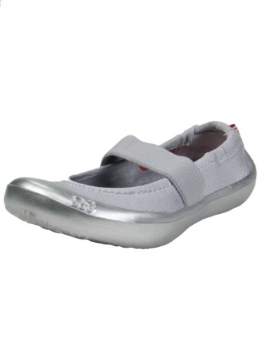 """Girls Mary Jane Toddler Metallic Silver School Shoes / Kids Sneakers For Fashion, Play Or Water By Luv Footwear - Metallic - 6 - 7 Toddler / 5.00-5.25"""" front-1086220"""