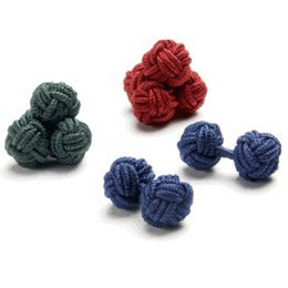 Country Club Silk Knot Cufflinks