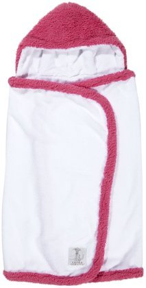 Little Giraffe Chenille Towel - Raspberry
