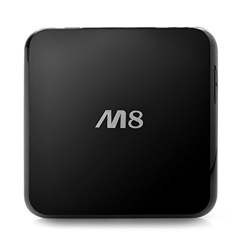 Blusmart M8 Android 4.4 Jelly Bean Arm Amlogic S802 Quad Core Up To 2.0Ghz Cortex A9 Streaming Mini G-Box Smart Set Top Tv Box Support Xbmc 3D Hd 1080P Rj45 And Wifi Connection 2Gb Ram 8Gb Rom Blu-Ray 4K Smart Pc Streaming Media Player With Ir Remote Cont