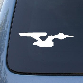 ENTERPRISE 2 - Star Trek - Vinyl Decal Sticker #A1395 | Vinyl Color: White