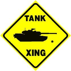 Amazon.com: TANK CROSSING sign * street military army: Home & Kitchen