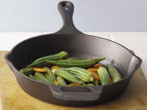 Emeril by All-Clad E96407 Pre-Seasoned Cast-Iron Skillet Cookware, 12-Inch, Black