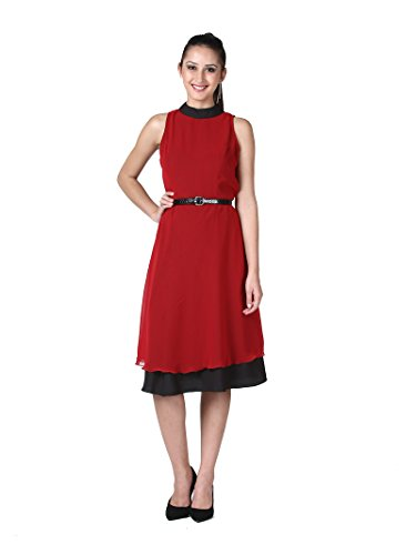DS-Womens-Georgette-Double-Layer-Sleeveless-Short-Dress