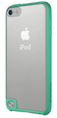 XtremeMac Microshield Accent IPT-MAN-23 - Bordo Gommato per iPod Touch 5, Colore Turchese, Trasparente