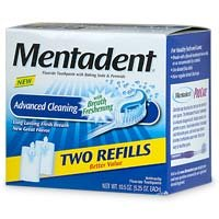 Mentadent Fluoride Toothpaste Advanced Cleaning 5.25-Ounce Refills in 2-Count Boxes, Packaging May Vary (Pack of 3)
