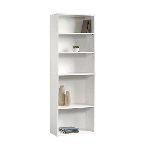 Sauder Beginnings 5-Shelf Bookcase, Soft White White 5 Shelf Bookcase