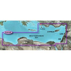 Garmin Bluechart G2 - Heu016R - Mediterranean Southeast - Data Card