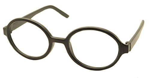 FancyG® Retro Geek Nerd Oval Round Shape Glass Frame NO LENSES