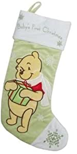 "Disney - Winnie The Pooh - Baby's first Christmas - Saint Nick Stocking (18.5"")"