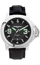 Jorg Gray Leather Black Dial Men's watch #JG1850-24