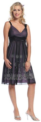 knee length dress woman