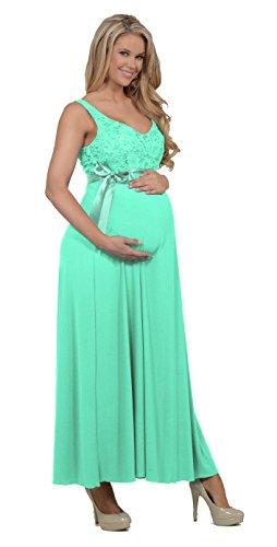 Women's V Neck Sleeveless Sequin Evening Formal Maternity Full Length Dress