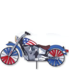 Patriotic Motorcycle (Large Version) - Bicycle Wind Spinner