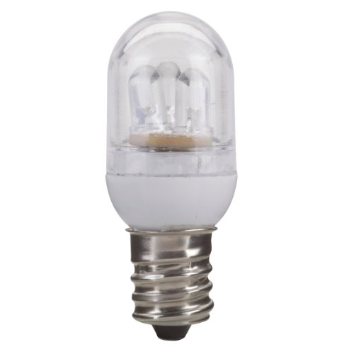 Globe Electric 00336 1-Watt Led For Life Accent Clear, Led Night Light Candelabra Base Bulb, 2-Pack