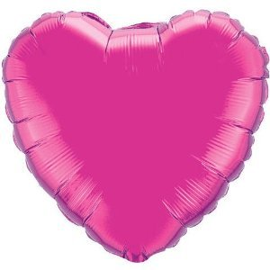 "Magenta 18"" Heart Shape Mylar Balloon"