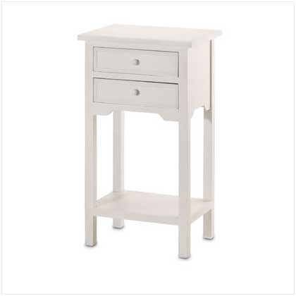 2-Drawer Style 36644 Side Table, White front-686187