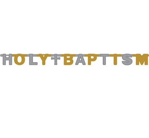 Holy Baptism Foil Jointed Banner -7.5 ft. x 4.25 in.
